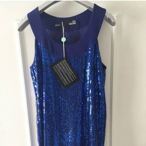 NWT Love Moschino Electric Blue Sequin dress